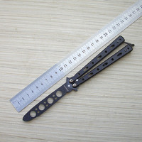 Factory Sale Game Knife No Edge Balisong Practice Butterfly In Knife Trainer Training Pocket CS GO