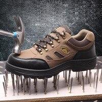 안전 신발 모자 강철 발가락 안전 신발 부츠 남자 작업 신발 남자 통기성 메쉬 크기 12 신발 내마 모성 gxz006