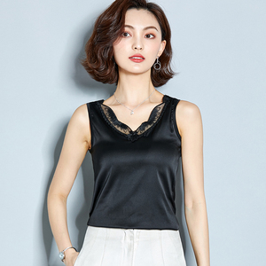 Fashion Women Summer Hot Vest Camis Sleeveless Korean Tops Ladies Lace Sexy Loose V-Neck Tanks Tees Tops Camis Bralette Bustier
