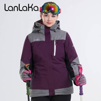 2018 LANLAKA Women Hiking Jacket Skiing Jacket Super Warm Clothing Outdoor Sport Wear Riding Winter Coat Windproof Waterproof