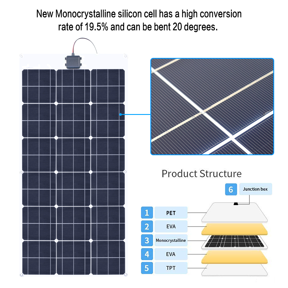 80W 18V Flexible solar panel 5