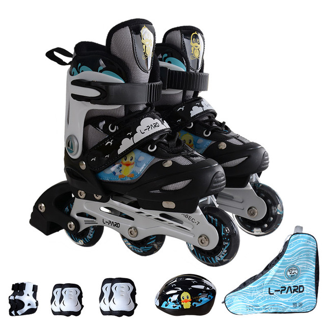 878f44d46f3 Knipperende wielen PU wiel kinderen inline skates, aanpassen grootte kids  skate schoenen, kids rolschaatsen