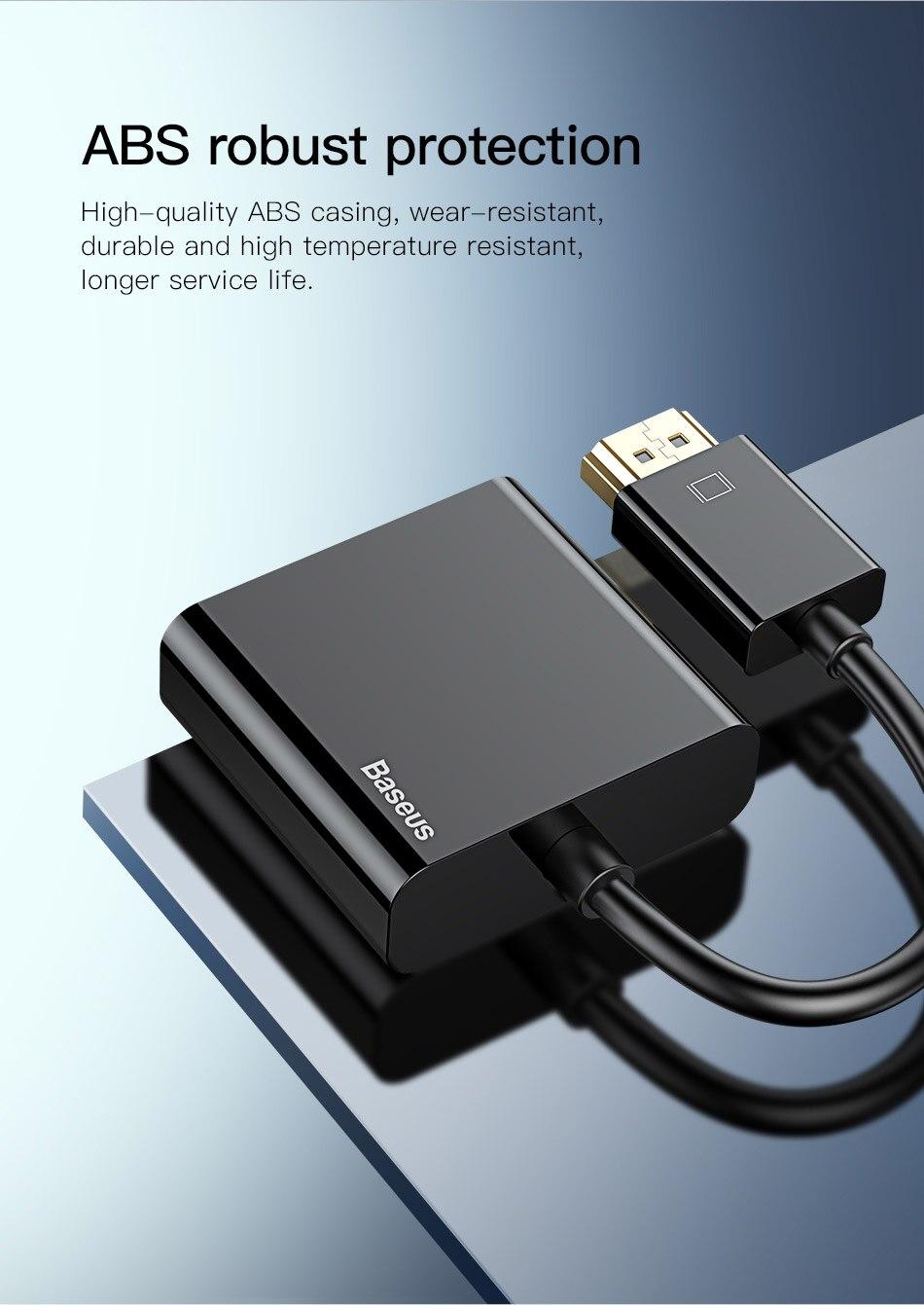 HTB1.4WGci6guuRkSmLyq6AulFXaM Baseus HDMI to VGA Cable HDMI VGA Adapter Digital HDMI to VGA Jack 3.5 mm Converter Video Aux Audio Splitter For Laptop PS4 TV
