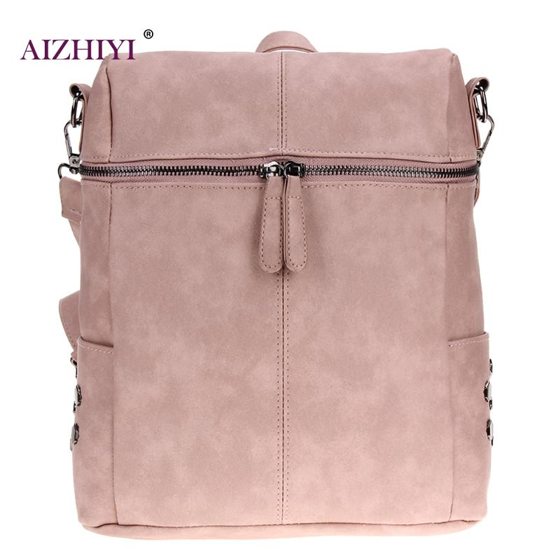 Simple Preppy Style Women Backpack Fashion PU Leather Backpacks For Teenage Girls Vintage Solid School Bags Shoulder Bagder Bags цена
