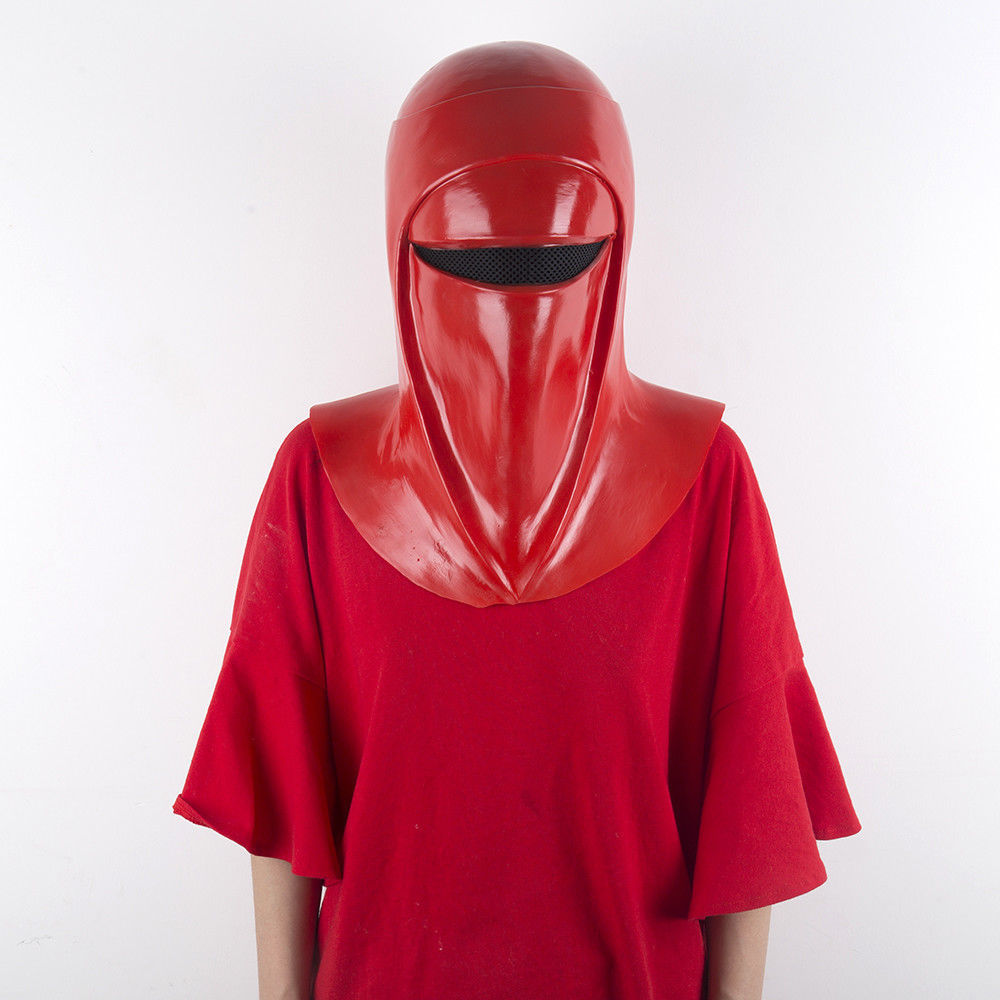 Cosplay Star Wars Emperor's Royal Guard Soldiers Helmet Royal Guard Red Latex Mask Handmade Prop