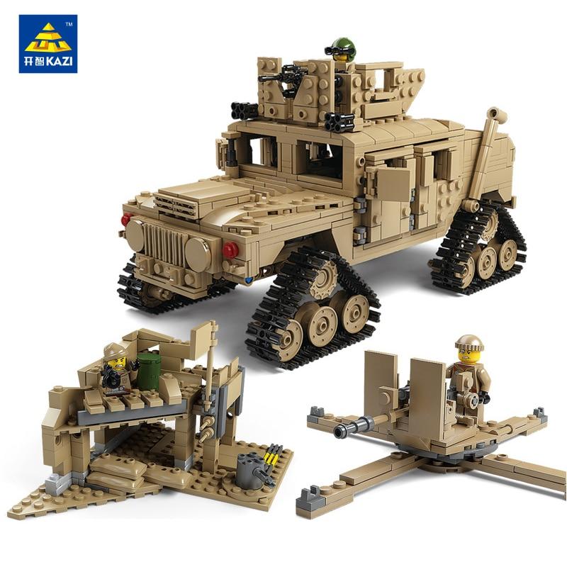 Model Building kits Blokken compatibel met Militaire M1A2 Tank Collection Trans Toys 1:28 ABRAMS MBT HUMMER 1463 pcs-in Blokken van Speelgoed & Hobbies op  Groep 3