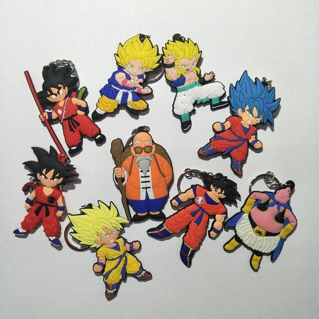 Dragon ball Kame Sennin cosplay PVC Keychain anime DBZ dragonball evolution Pingente Chaveiro Llavero Kuririn Goku Super Saiyan