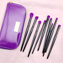 9Pcs Professional Eye Makeup Brushes Set Purple Natural Goat Hair Eyeshadow Eyebrow Liner Nose Highlight Blending Contour Brush