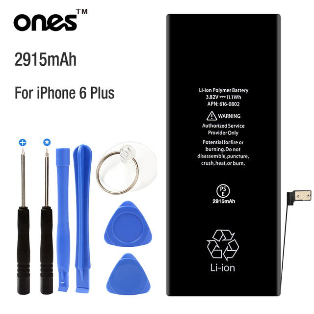 "ONES brand 2915mAh 0 Cycle Mobile Phone Battery replace For Apple Iphone 6 Plus battery 5.5"" 6+ 6P Li-ion polymer with kit Tools"