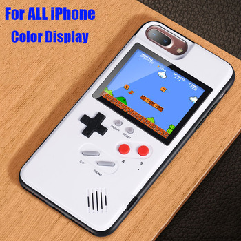 Game boy Soft TPU Phone Case For iPhone X XS Max XR 6 7 8 Plus Color Display 36 Classic Game Console Silicone Cover IPXM9 iphone