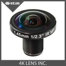 4K LENS 1.45MM Lens 190D 12MP IR for GoPro Ribcage 360 VR Camera 2016 Hot Coming