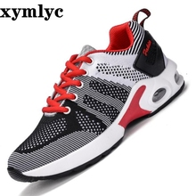 high quality Womens casual shoes female fashion mesh  womens Flying woven cushion sneakers mujer