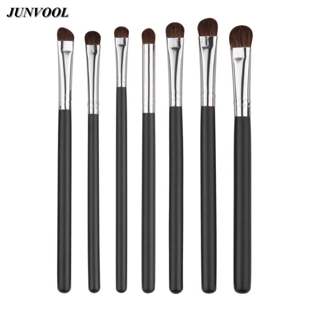 7pcs Eye Brushes Set Black Silver Makeup Brush Kit Natural Eye Shadow Brushs Blending Pencil Kit pinceis de maquiagem davidoff silver shadow в омске