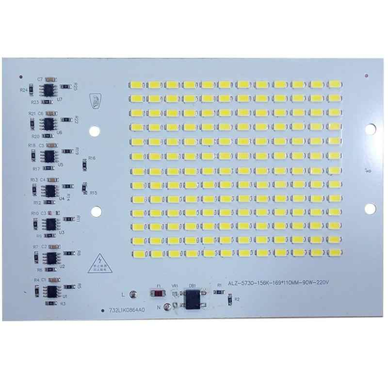 LED Lamps SMD Chip Beads Smart IC 220V Input 10W 20W 30W 50W 90W DIY For Outdoor FloodLight Cold White Warm White