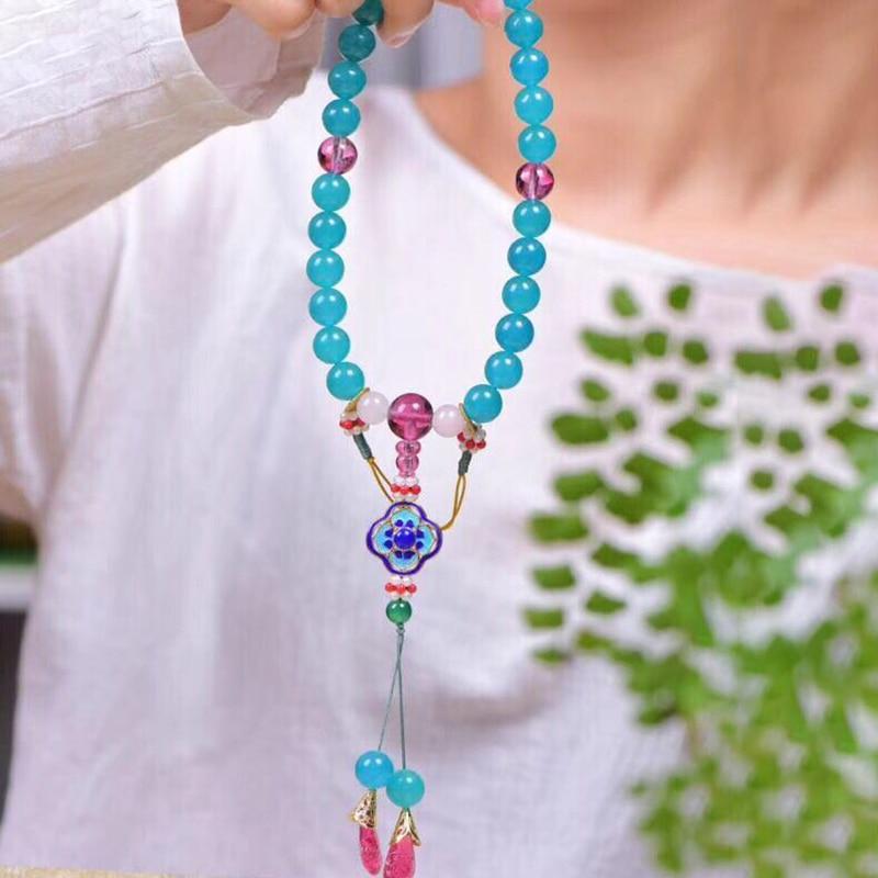 JoursNeige Court 18 Rosary Handheld Natural Crystal Bracelets Colour Beads Bracelets For Women Retro Beautiful Bracelet Jewelry