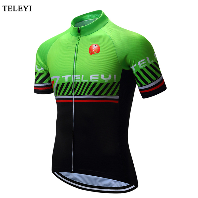 TELEYI Maillot Green Man s Bike Cycling Jersey Bicycle Clothing Breathable  Summer Mtb Ropa Ciclismo Mountain Bike Clothes 171cab17d