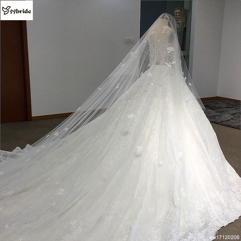 sw17120206-7 surmount custom made royal train wedding dresses 2018 ball gown long sleeves robe de soiree long robe de mariage wedding dresses Surmount Custom Made Royal Train Wedding Dresses 2018 Ball Gown Long Sleeves robe de soiree Long robe de mariage Wedding dresses HTB1