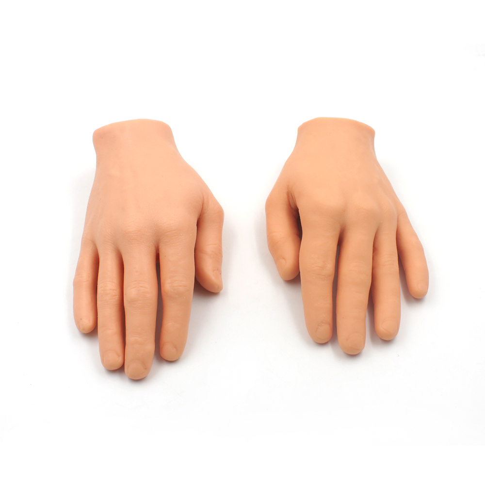 New Hand Tattoo Practice Skin Model and Nail practice hand model True to scale size Left and Right Hand Model 1 pair of lot new 2pcs female right left vivid foot mannequin jewerly display model art sketch