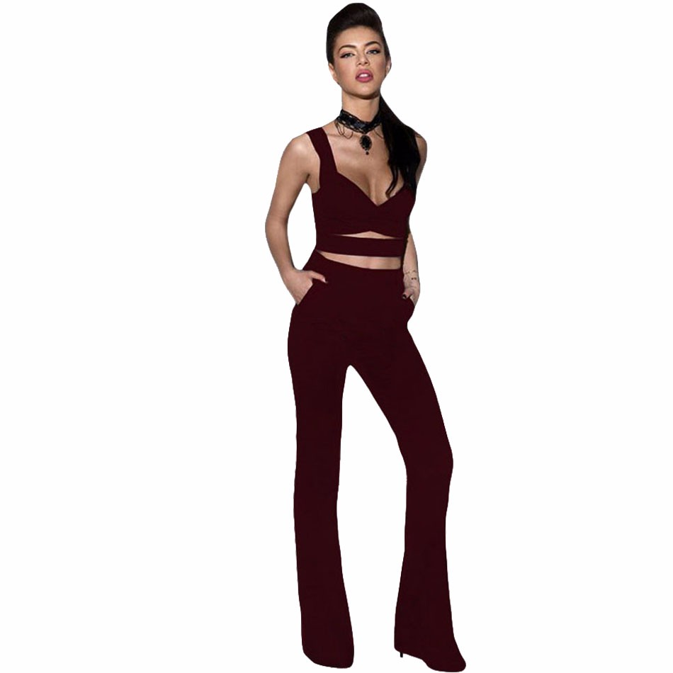 Burgundy-Cross-Front-Crop-Top-and-Pocket-Pant-Set-LC62005-3-1