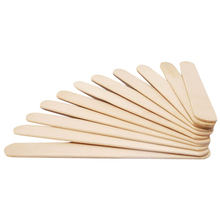 50 PCS Natural Wood Popsicle Sticks Wooden Stick Homemade Ice Cream Craft Reusable