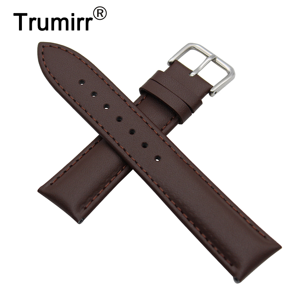 Genuine Leather Watch Band 18mm 20mm for DW Daniel Wellington Stainless Buckle Strap Wrist Belt Bracelet Black Brown +Spring Bar