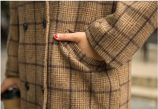 Marque 2 Haute Moyen Dames 1 Qualité Manteau Laine Slim De Veste Long Gris Mode Tweed qwZ7f6q