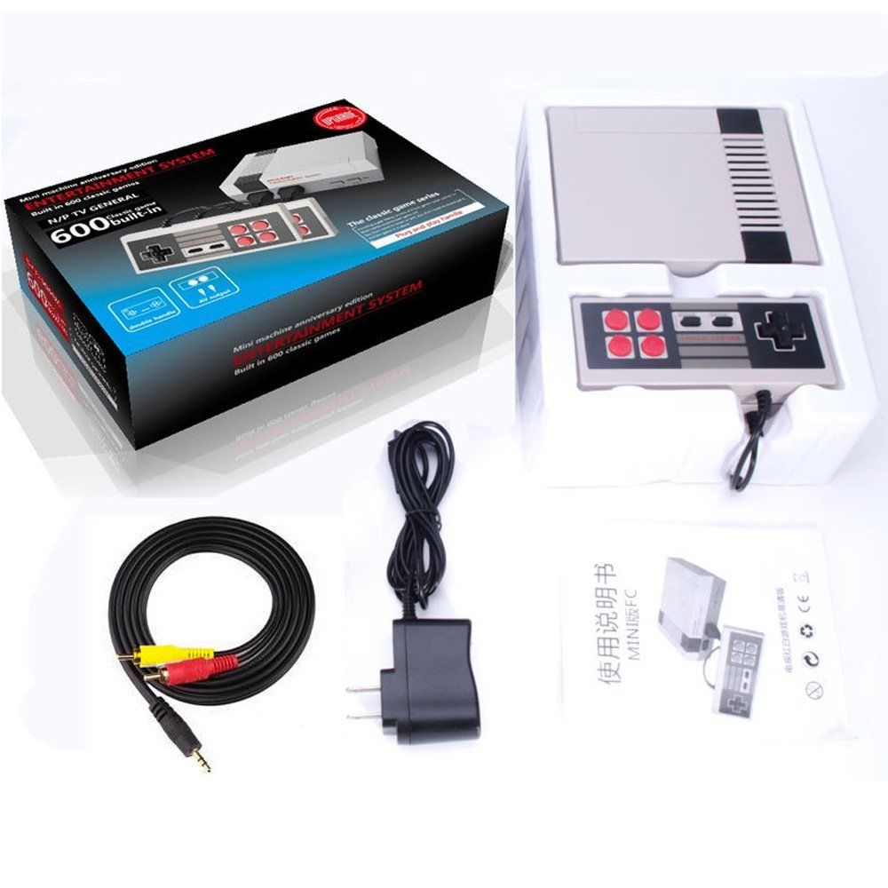 US $23 99 |Mini Vintage Retro TV Game Console Classic 500 Built in Games 2  Controllers w/ Original Retail Box-in Handheld Game Players from Consumer