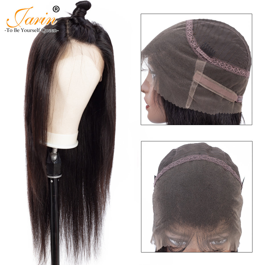 Malaysian Straight Hair 360 Lace Frontal Wigs With Baby Hair Lace Front Wig Natural Color For