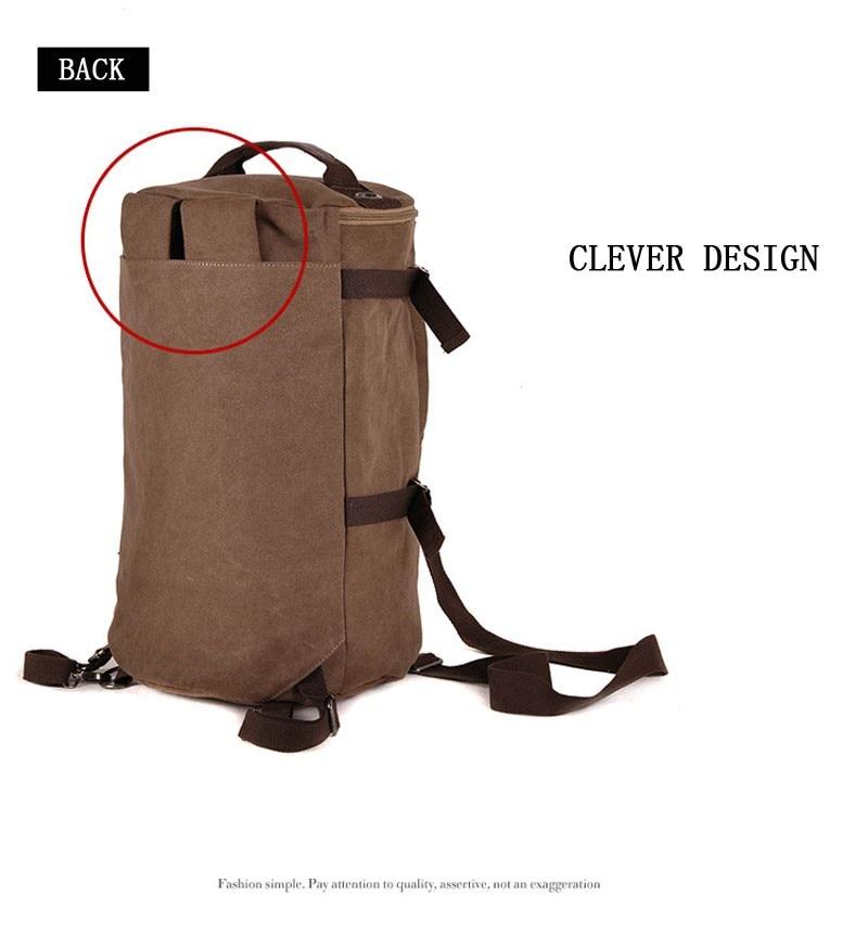Men's Multi-Functional Backpack Vintage Shoulder Bag High Quality Canvas Male Bagpack Rucksack Travel Luggage for Weekend 32