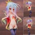 20 cm Shiro NO JUEGO NO VIDA Blanco traje de Baño Estilo de Animación Figura de Acción DEL PVC Modelo Muñecas Juguetes de Regalo Envío Gratis