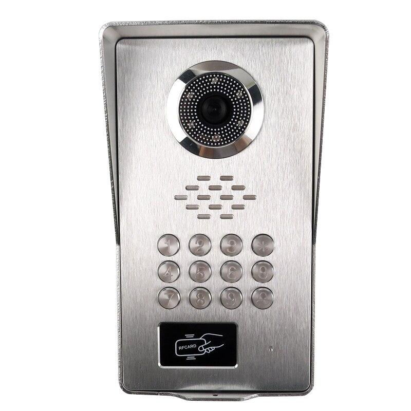 Grenseure FREE SHIPPING 9 LCD Screen Monitor Video Intercom Phone System RFID Code Keypad Unlock Outdoor Camera + Power Control