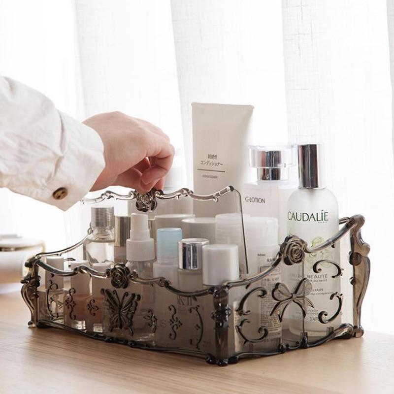 Constructief Make-up Organizer Voor Cosmetica Opbergdoos Rack Make Up Transparante Dozen Lippenstift Nagellak Borstel Houder Voor Kaptafel