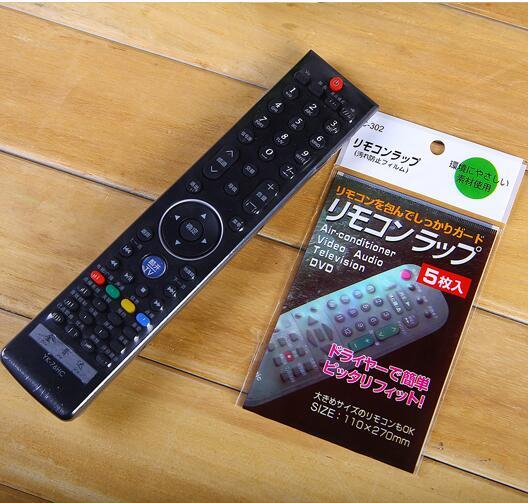 5PCS In Transparent Clear TV AC remote control Cover Protective Sleeve Heat Shrink Film Dustproof waterproof