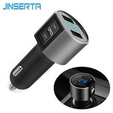 JINSERTA Car MP3 Audio Player Bluetooth FM Transmitter Wireless Modulator Kit HandsFree LCD Display 2 USB Phone Charger