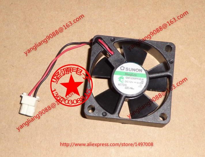 Original SUNON GM1235PFV2-8 12V 0.5W 3510 3.5cm 35mm 2-wire fan