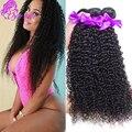 3 связки Индийский странный вьющиеся волосы девственницы 8А необработанные девы волос bundle предложения Afro kinky вьющиеся человеческих волос weave расширения