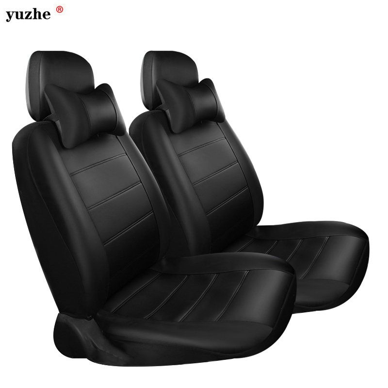 Yuzhe PU Leather Auto Universal Car Seat Covers Automotive Seat Covers for toyota lada kalina granta priora renault logan kkysyelva universal leather car seat cover set for toyota skoda auto driver seat cushion interior accessories