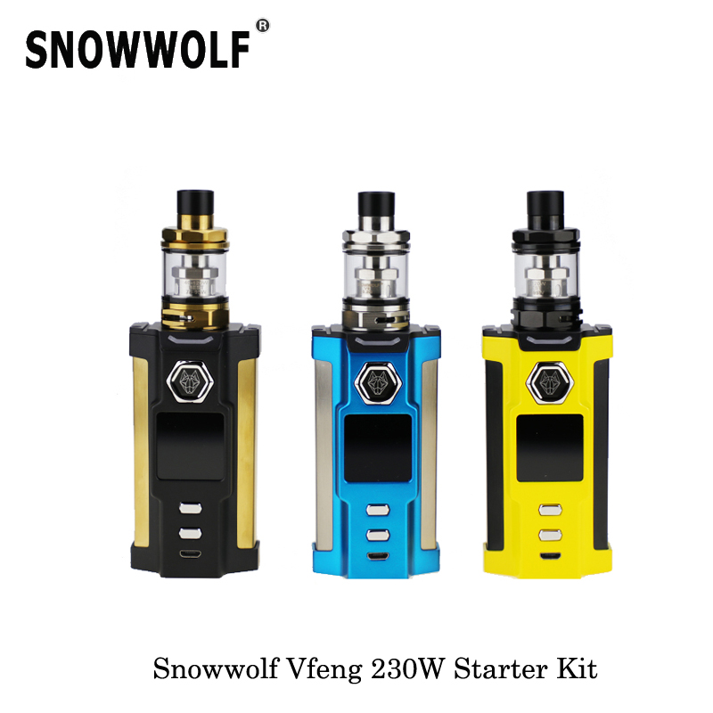 230W Original Electronic Cigarettes Sigelei Snowwolf Vfeng Starter Kit Box Mod 3ml capacity 2017 Mechanical Mod Vape Vaporizer цена