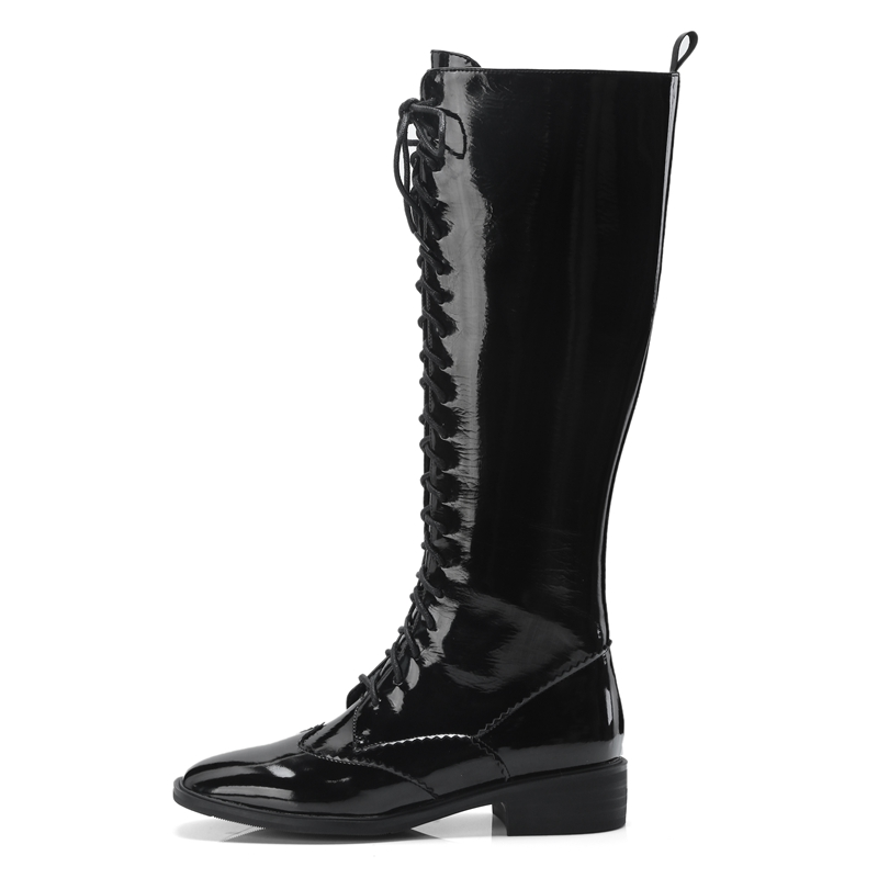 Talla 34 Rodilla Cr1761 Señora Dedo Tacón Cuadrado Moda Mujer Del Cremallera Zapatos 39 black Beige La Botas Hasta Pie Enmayer Alto De Mujeres wRqtTT