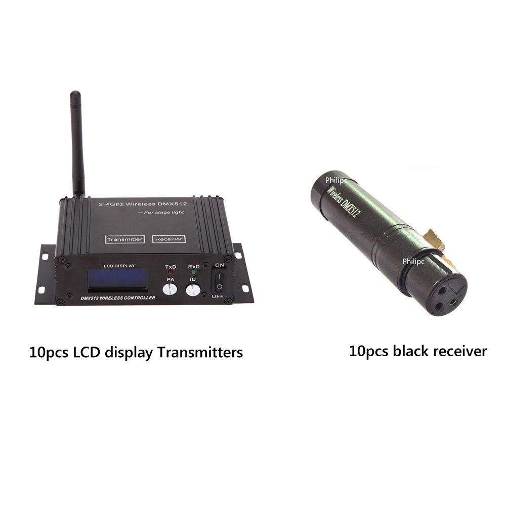 2.4g Wireless Controller DMX Wireless Controller di Display LCD e Mini Wirelesss Dmx Ricevitore Per DJ luci del palcoscenico