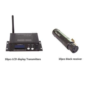 2,4G беспроводной dmx-контроллер беспроводной контроллер с lcd-дисплеем и мини беспроводной s Dmx приемник для ди-джеев, сценическое освещение
