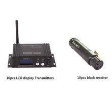 2.4g беспроводное устройство DMX контроллер Беспроводной ЖК-дисплей Дисплей контроллер и мини-Беспроводной s приемник DMX для DJ сцены