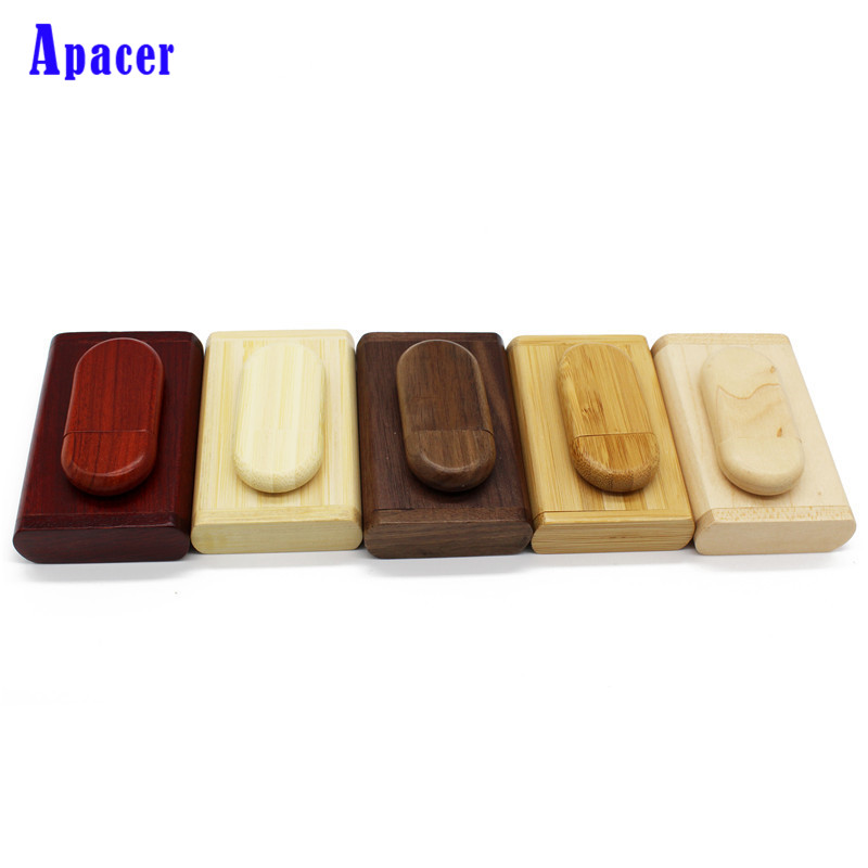 Apacer wooden Logo Pen drive Card Usb Flash Drive usb2.0 8GB 16GB Wood 32GB Pen Drive Gift usb Stick