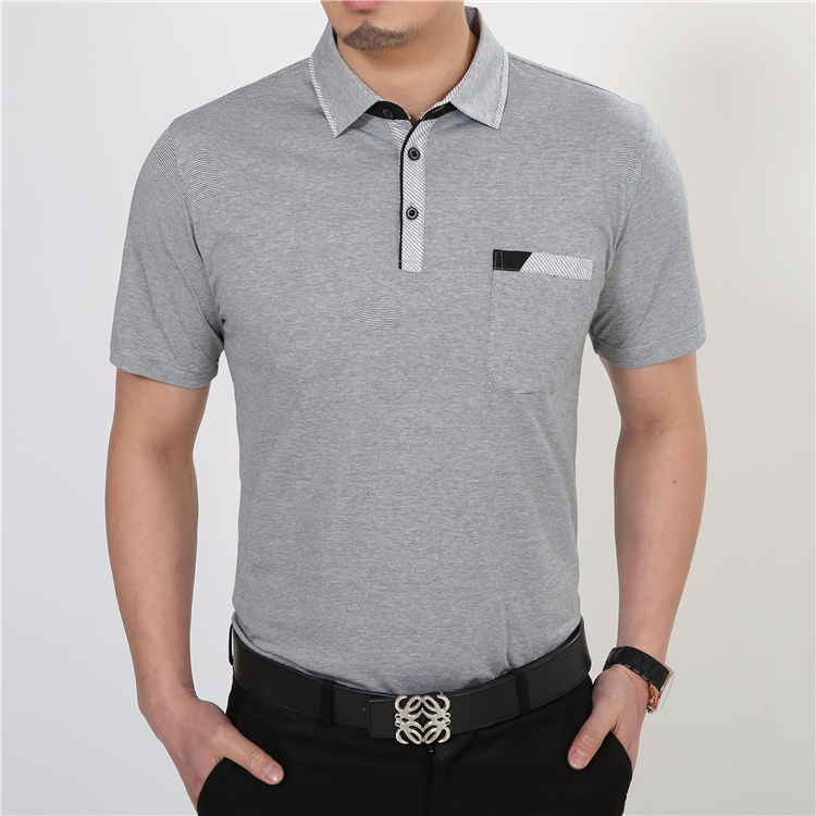 Free Shipping Short Sleeve T Shirt Cotton Clothing Men T-Shirt With Pocket Casual Dress Factory Wholesale Plus Size S XXXXL 2229 8
