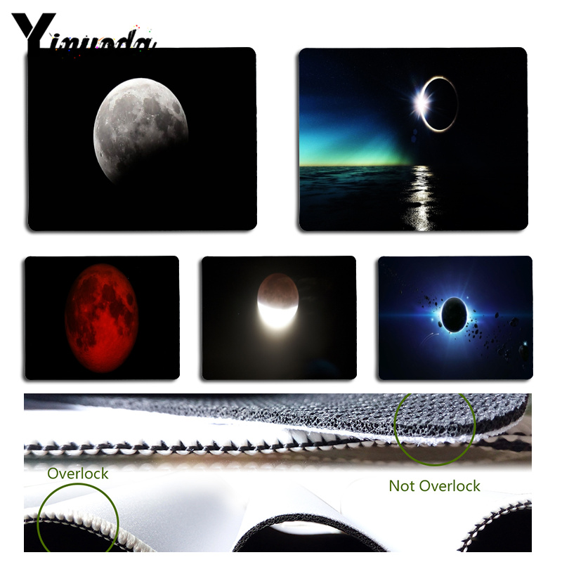 Yinuoda Lunar Eclipses Laptop Computer Mousepad Size for 18x22x0.2cm Gaming Mousepads