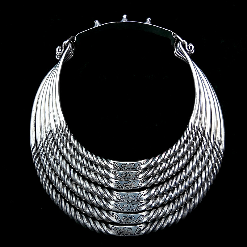 hot sell new - free shipping Handmade handicrafts silver seven row collar necklace Hairpins