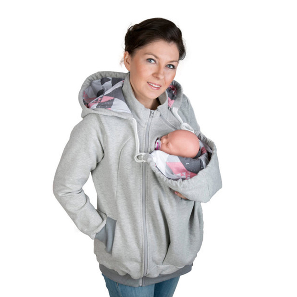 Brand New Fashion Baby Carrier Jacket Kangaroo Hoodies Winter Warm Outwear Maternity Hooded Pregnancy clothing Size S 2XL