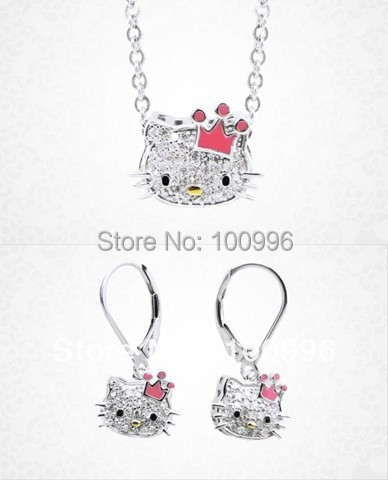 0cb0c6a1c New Arrival hot sale nice design alloy hello kitty Jewelry set accessories  Cheap price for women Gift Hs 078-in Jewelry Sets from Jewelry &  Accessories on ...