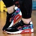 Zapatos hombre fresco hombres transpirable deporte al aire libre zapatos casuales azul calle zapatos para caminar para adolescente masculino con cordones planos zapatos