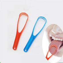 1 Pieces Double Sized Tongue Cleaner Scraper Practical Cleaning Brush For Dental Oral Care Keep Fresh Breath